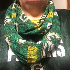 Homemade GreenBay packer scarf with pocket